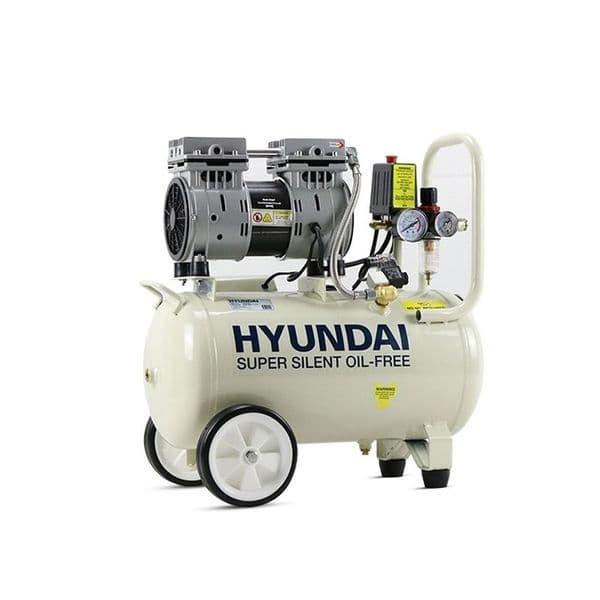 Hyundai Air Compressor HY7524+5 24 Litre 5.2CFM/100psi Silenced Oil Free Direct Drive 5 Piece Kit
